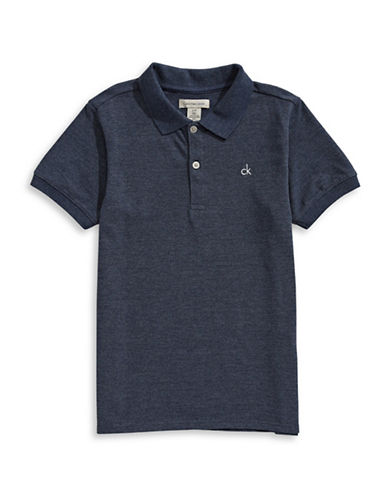 Calvin Klein Classic Micro Pique Polo-DARK BLUE-Small