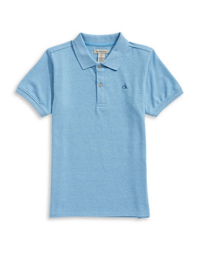 Calvin Klein Classic Micro Pique Polo-MEDIUM BLUE-Medium