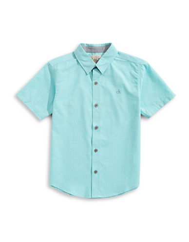 Calvin Klein Solid Twist Sport Shirt-SEA BLUE-Medium