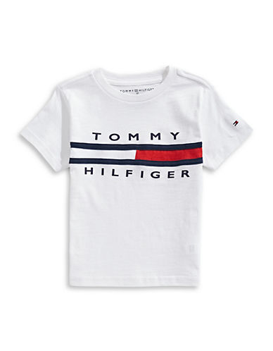 Tommy Hilfiger Flag Logo Jersey Tee-WHITE-X-Large 89945989_WHITE_X-Large