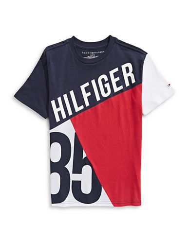 Tommy Hilfiger Diagonal Jersey Tee-WHITE-Medium 89899789_WHITE_Medium