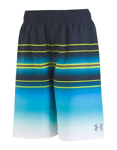 Under Armour Galaxy Stripe Swim Shorts-GREY-Medium 89945840_GREY_Medium