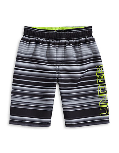 Under Armour Gradient Stripe Volley Shorts-BLACK-Small 89977395_BLACK_Small