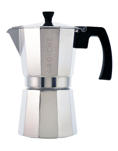 Grosche Milano 6 Cup Stovetop Espresso Maker-SILVER-One Size