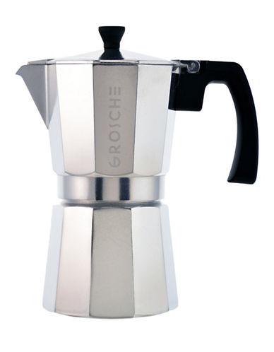 Grosche Milano Grosche Stovetop Espresso Maker-SILVER-One Size
