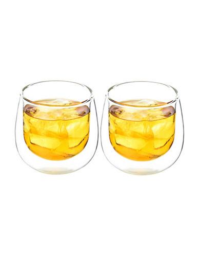Grosche Fresno Double Walled Glass Cups-CLEAR-One Size