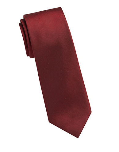 Kenneth Cole Reaction Solid Silk Tie-RED-One Size