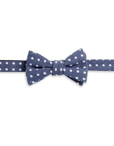 Bow Tie Tuesdays Polka-Dot Pattern Bowtie-DARK BLUE-One Size