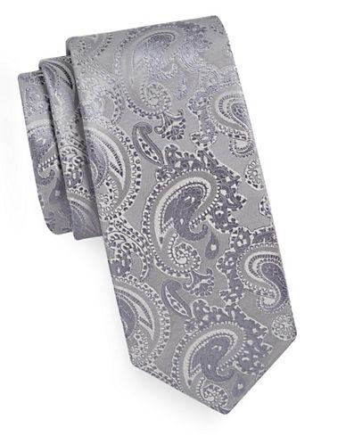 Geoffrey Beene Tonal Paisley Tie-STORM-One Size