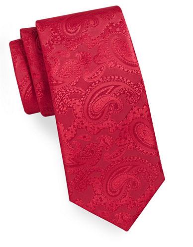 Geoffrey Beene Tonal Paisley Tie-RED-One Size