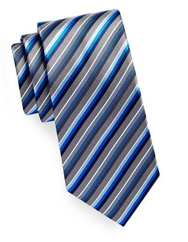 Geoffrey Beene Tonal Stripe Silk-Blend Tie-NAVY-One Size