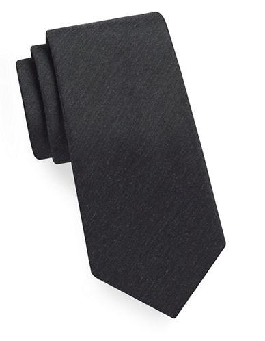 Geoffrey Beene Solid Tie-BLACK-One Size