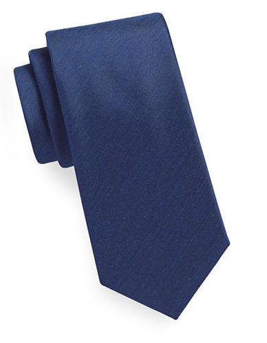 Geoffrey Beene Solid Tie-NAVY-One Size
