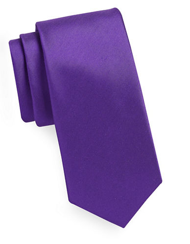 Geoffrey Beene Solid Tie-PURPLE-One Size