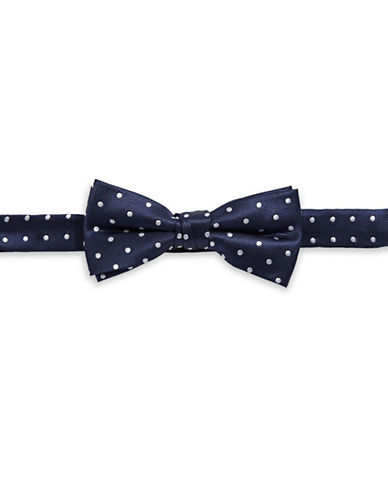 Tommy Hilfiger Polka Dot Pre-Tied Bow Tie-NAVY-One Size