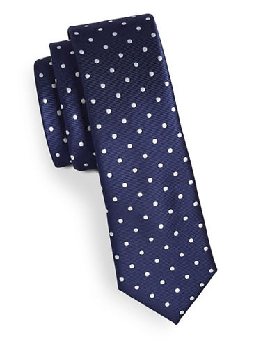 Tommy Hilfiger Polka Dot Tie-NAVY-One Size