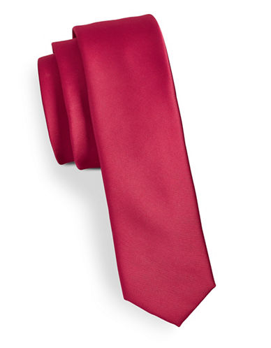 Tommy Hilfiger Solid Tie-RED-One Size
