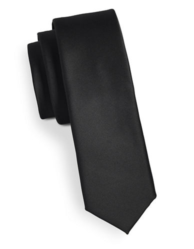 Tommy Hilfiger Solid Tie-BLACK-One Size