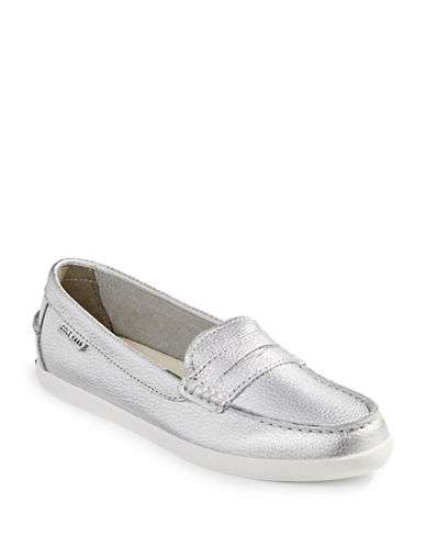 Cole Haan Pinch Metallic Weekender Loafers-METALLIC GREY-8