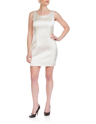 Sonia Arora Designs Satin Tank Dress-NATURAL-12