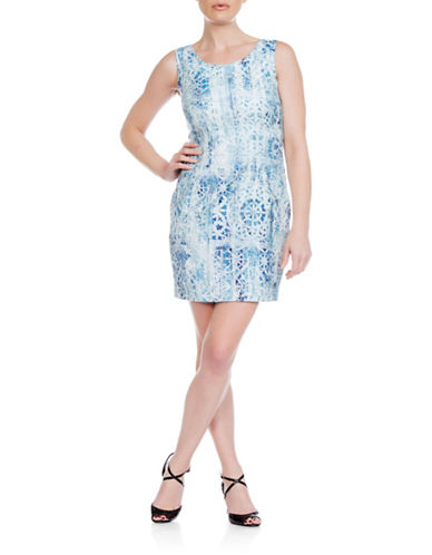 Sonia Arora Designs Nautical Jacquard Tank Dress-BLUE-10