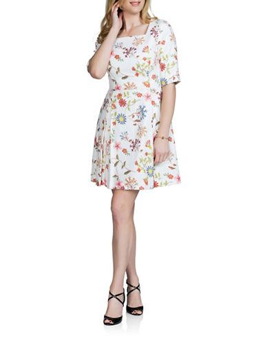 Sonia Arora Designs Graphic Jacquard A-Line Dress-MULTI-4