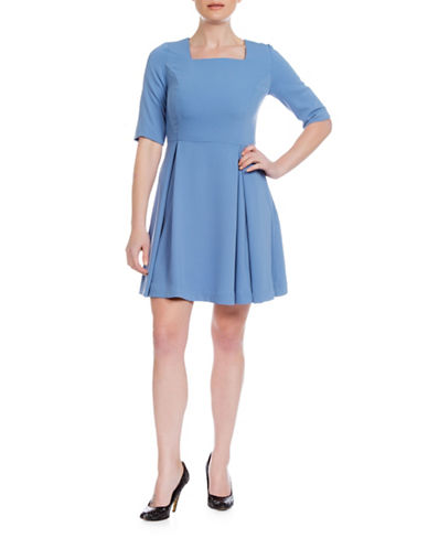 Sonia Arora Designs A-Line Faille Dress-BLUE-8