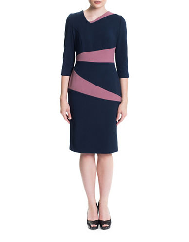 Sonia Arora Designs Colourblock Midi Dress-MULTI-2