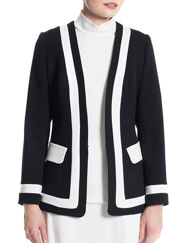 Sonia Arora Designs Colourblock Long Sleeve Jacket-BLACK-4