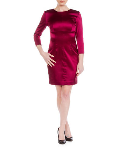 Sonia Arora Designs Satin Bodycon Dress-RED-10