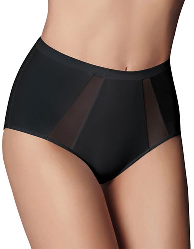 Wonderbra Light Control Brief with Mesh Cut-Outs-BLACK-Large