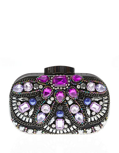 Jessica Mcclintock Juliette Clutch-PURPLE MULTI-One Size