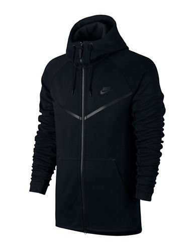 Nike Sportswear Tech Fleece Windrunner Hoodie-BLACK-Large