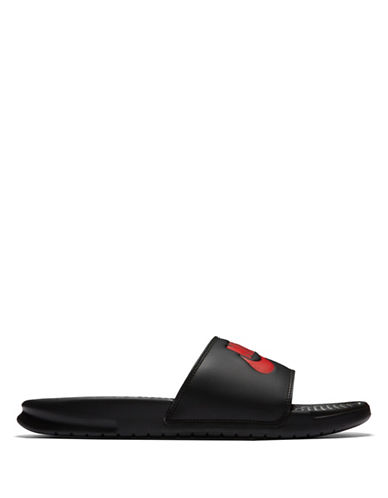 Nike Benassi Just Do It Slides-BLACK/RED-12