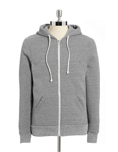 Alternative Fleece-Lined Heathered Hoodie-ECO GREY-X-Large