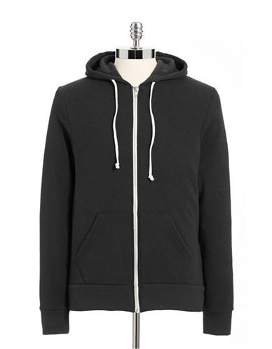 Alternative Fleece-Lined Heathered Hoodie-TRUE BLACK-Small