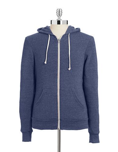 Alternative Fleece-Lined Heathered Hoodie-TRUE NAVY-Small
