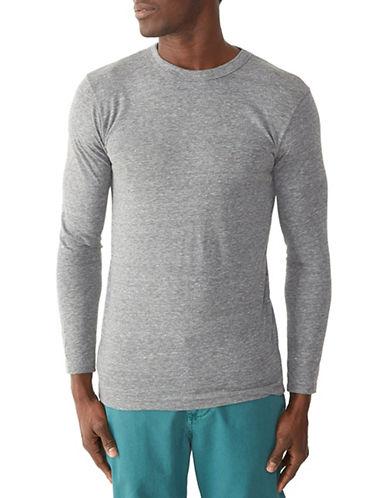 Alternative Long Sleeve Eco-Jersey Crew T-Shirt-LIGHT GREY-Small