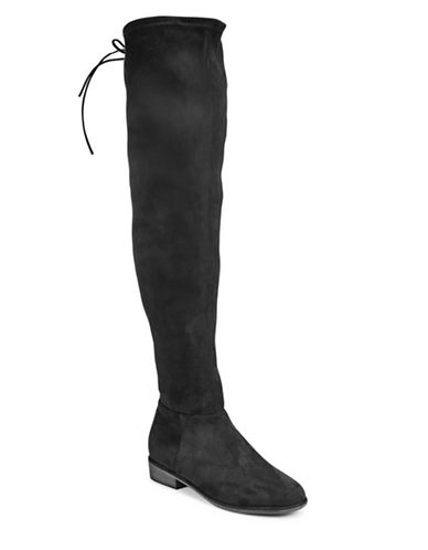 Call It Spring Legivia Faux Suede Tall Boots-BLACK-8.5