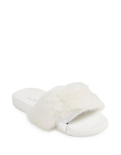 Aldo Gotta Slide Sandals-WHITE-6