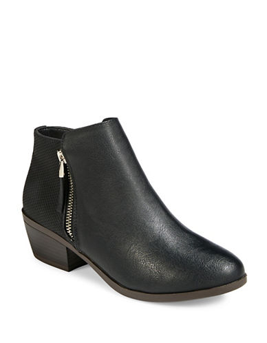 Call It Spring Faux Leather Ankle Booties-BLACK-7.5