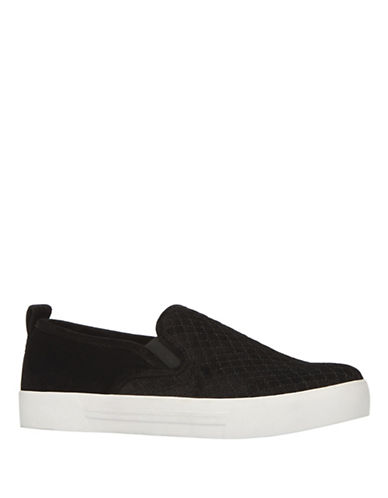 Call It Spring Fiamma Quilted Slip-On Sneakers-BLACK VELVET-6.5