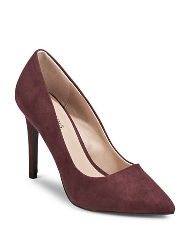 Call It Spring Agrirewiel Point Toe Pumps-PURPLE-8.5