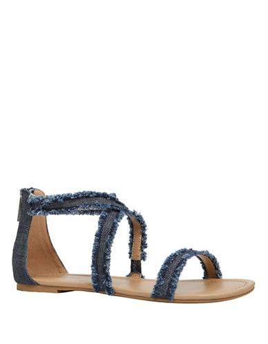 Call It Spring Crireniel Denim Sandals-BLUE-11