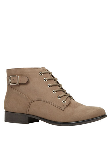 Call It Spring Lace-Up Ankle Boots-TAUPE-6.5