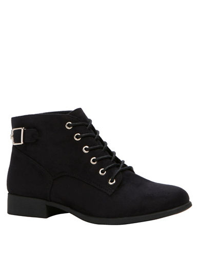 Call It Spring Lace-Up Ankle Boots-BLACK-10