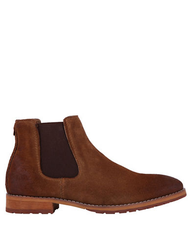 Call It Spring Draun Casual Leather Chelsea Boot-NATURAL-10.5