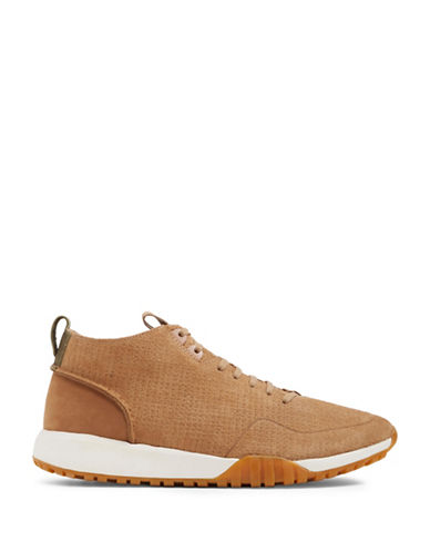 Aldo Vigoroso Leather Mid-Top Sneakers-BEIGE-7