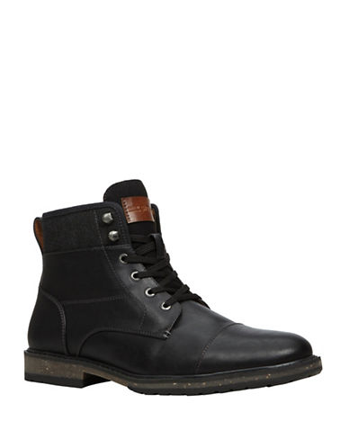 Call It Spring Simoneau Distressed Work Boots-BLACK-7.5