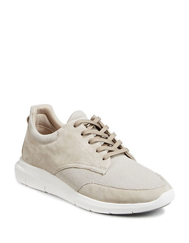 Aldo Sanroman Suede Sneakers-LIGHT GREY-7